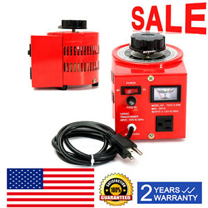 500w Ac Power Transformer Auto Regulator Variable Variac Digital Voltage Us Plug