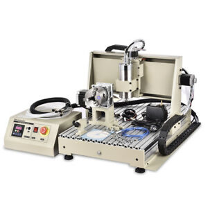 Usb 4axis Cnc 6040 1 5kw Vfd Engraving Machine Water cooling mach3 Handwheel