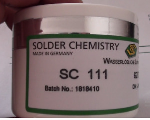 Water Soluble Solder Paste Sc 111 62sn 32pb 2ag Germany New And Fresh 20cc 60g