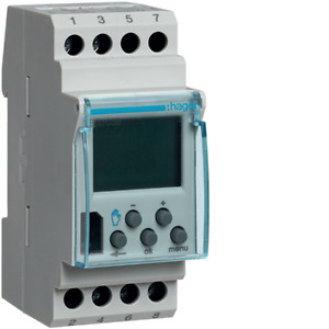 Hager Switch Time Digital Weekly 1via Base Eg103b