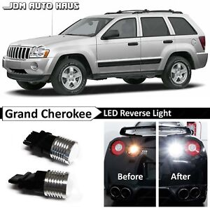 White High Power 3157 Reverse Backup Led Lights Bulb Fits Jeep Grand Cherokee Wk
