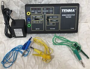 Tenma Semiconductor Tester 72 965 With 3 Leads Ac Power Cord Printed Manual