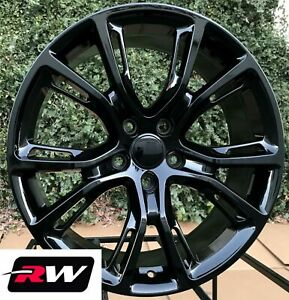 20 Inch Rw Wheels For Jeep Grand Cherokee 20x9 Gloss Black Srt Rims Lug Nuts