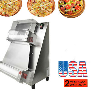 usa Ship Auto Pizza Bread Dough Roller Sheeter Pizza Making Machine Stainless