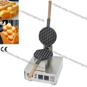 Commercial Nonstick Electric Rotating Eggettes Puff Bubble Waffle Maker Baker