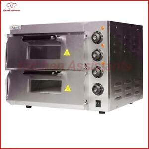 Electric Pizza Bakery Oven With Timer For Commercial Use For Making Bread
