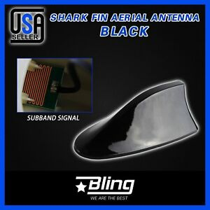 Car Antenna Radio Black Shark Fin Vortex Stereo Aerial Signal For Subaru Mazda