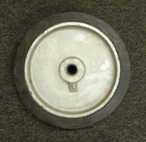 Industrial Caster Forged Steel Or Cast Iron Wheel Rubber No Toplate Lot Of 4