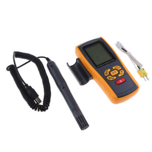 Portable Digital Hygrometer Thermometer Test Meter With K type Thermocouple