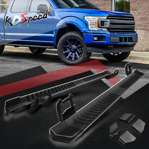 6 w Aluminum Side Step Bar Running Boards For 15 20 Ford F150 350 Super Crew Cab