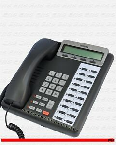 Toshiba dkt3220 sd Charcoal Speaker Display Phone Good Condition