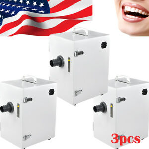 3pc Dental Digital Single row Dust Collector Collecting Vacuum Cleaner Equipment