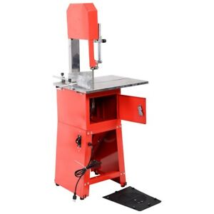 Electric 550w Stand Up Butcher Meat Band Saw Grinder Processor Sausage Red New