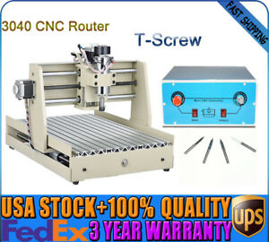 3 Axis 3040 Cnc Router Engraver Engraving Machine Cutter 400w T screw Top
