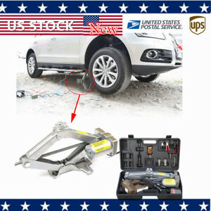 11000lbs 5 Ton Automatic Electric Jack Scissor Lift Garage Car Tire Repair Usa
