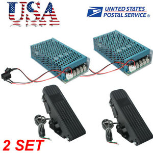 Us 2set Dc 10 50v 5000w Reversible Motor Speed Controller Pwm Control Soft Start