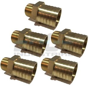 5 Pack 1 25 Hose Barb X 3 4 Male Npt Brass Pipe Fitting Npt Gas Fuel Air