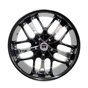 4 Gwg Wheels 18 Inch Black Chrome Savanti Rims Fits Nissan Altima 2000