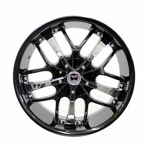 4 Gwg Wheels 18 Inch Black Chrome Savanti Rims Fits Chevy Impala Ltz 2006 2013