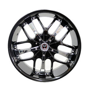Set Of 4 Gwg Wheels 18 Inch Black Chrome Savanti Rims 4x100 Et40 Cb74 1