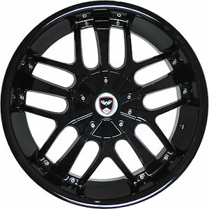 4 Gwg Wheels 18 Inch Black Savanti Rims Fits Toyota Camry V6 2012 2018