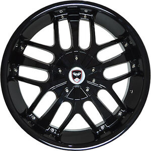 4 Gwg Wheels 18 Inch Black Savanti Rims Fits Honda Accord V6 2000 2002