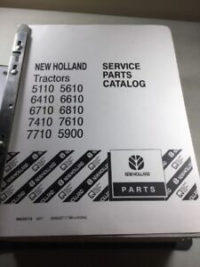 New Holland 5110 5610 6410 6610 6710 6810 7410 7610 7710 5900 Parts Book