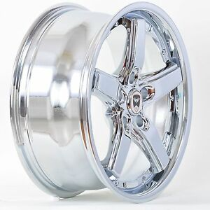 Set Of 4 Gwg Wheels 18 Inch Chrome Drift Rims 18x8 Fits Ford Mustang 2005 2014
