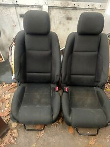 13 14 Ford Mustang Front Seat Black Cloth Oem