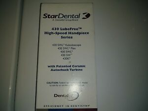Star 430swl Fiberoptic Lube Free Dental Handpiece New