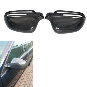 Replace Carbon Mirror Cover Caps For Audi A3 A4 S5 B8 A5 8t Without Side Assist