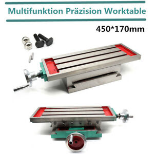 Milling Machine Bench Drill Vise Fixture Worktable X Y axis Table Adjustable Uss