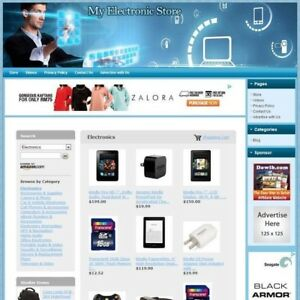 Electronic Store Complete Turnkey Website With Easy to operate Control Panel