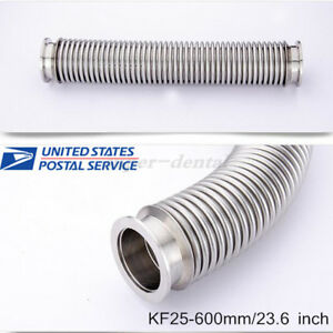 Bellows Hose Metal Kf 25 23 6 Inch Tubing 600mm Iso kf Flange Size Nw 25 Usa