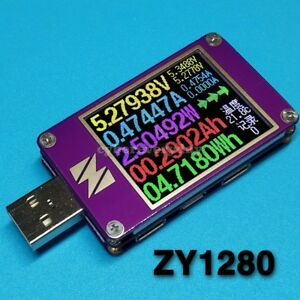 Zy1280 Usb Power Monitor Current Voltage Capacity Quick Charge Qc4 Pd3 0 Mfi Pps