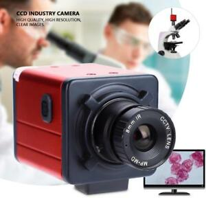 14mp Digital C mount Industry Camera Hd Microscope Video Recorder Tv Usb Dvr Lab