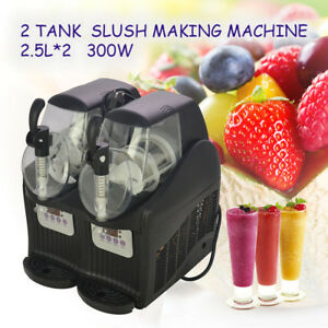 Updated 300w 2 5l 2 Mini Margarita Slush Frozen Drink Machine