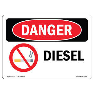Osha Danger Sign Diesel Heavy Duty Sign Or Label