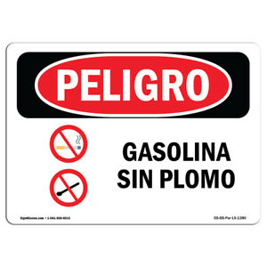 Osha Danger Sign Unleaded Gasoline Heavy Duty Sign Or Label