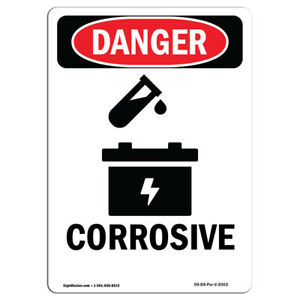 Osha Danger Sign Corrosive Heavy Duty Sign Or Label