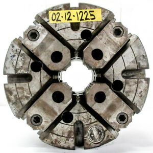 Warner Swasey 12 4 Jaw Independent Manual Chuck A2 8 Mount M1608