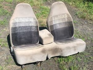 1991 Ford Ranger Front 60 40 Split Bench Seat Gray Cloth Manual Slide