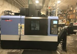 Doosan Dnm500 Vertical Machining Center With 4th Axis New 2010 With Low Hours