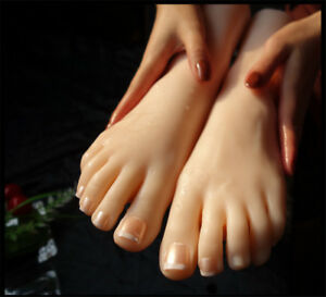 Lifelike Silicone Female Foot Feet Mannequin Shoes Socks Display Model Eur36 1pc