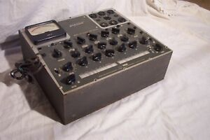Precise Electronics Tube Tester Model 111 Gm Em Tester For Parts Or Repair