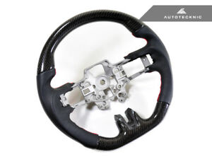 Autotecknic Carbon Leather Steering Wheel 2015 Up Ford Mustang Shelby Gt 350