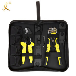 Wire Crimper Pliers Stripper Connector Terminals Tool Kit For Solar Panel M2a0
