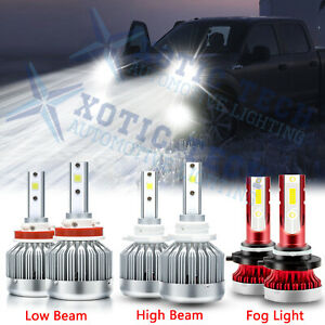 For Ford F 150 2015 2019 Led Front Headlight High Low Beam Fog Light Bulbs Combo