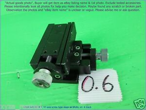 Chuo Seiki Rx x y Linear Stage Positioner Manual Stage Xy Axis travel 7 5mm A