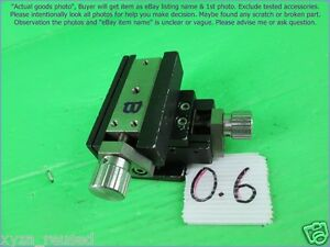Chuo Seiki Rx x y Linear Stage Positioner Manual Stage Xy Axis travel 7 5mm B